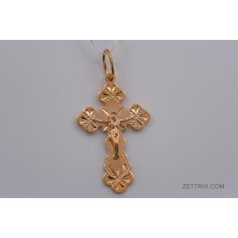 Крест православный позолоченый 1