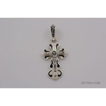 Крест с эмалью средний