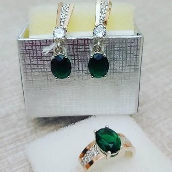 Набор 0335.10 зеленый фианит